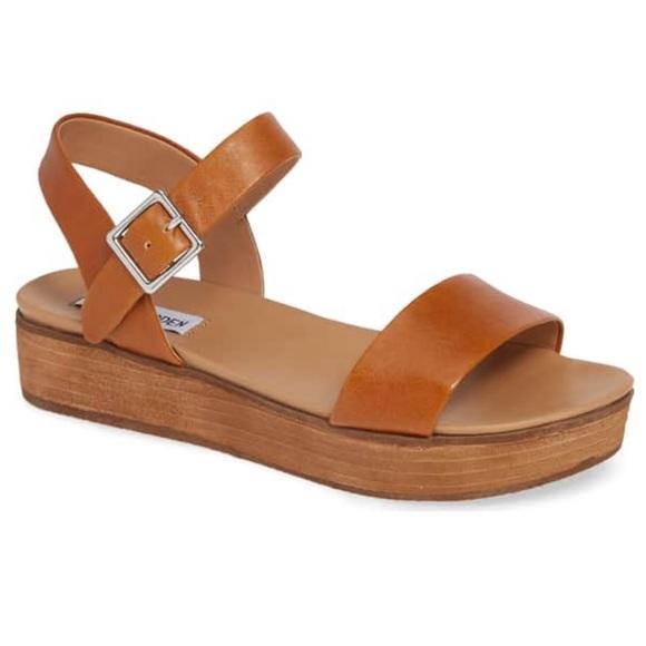 fcbfe49cdf Steve Madden Aida Platform Sandal Cognac Leather 8.  M_5c071570de6f62a8b2978617